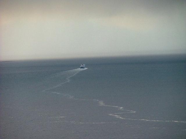 MV Hebrides sails into a rainstorm