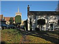 TL4746 : Duxford: St John's Church and The Green by John Sutton