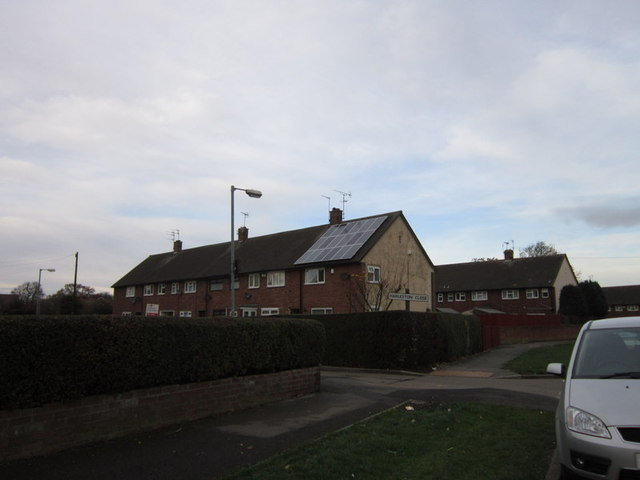 Waveney Road at Harleston Close,  Longhill Estate