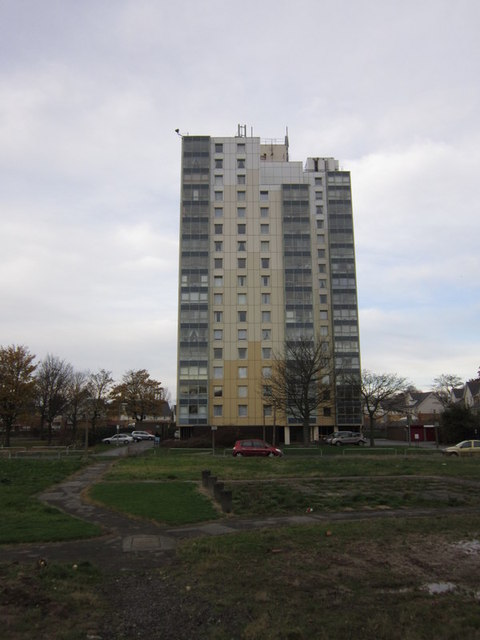 Muswell Court Flats on Ings Road Estate