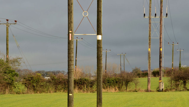 Poles and power lines, Muckamore