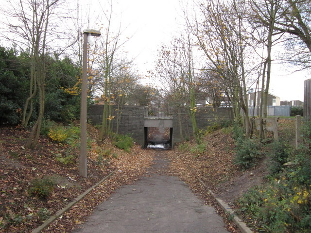 The underpass on Middlesex Road, Ings Road Estate