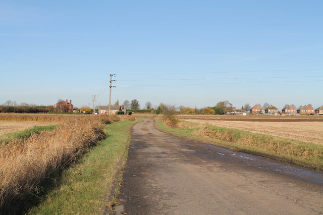 Burtoft Lane towards Wigtoft