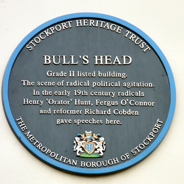 Bull's Head blue plaque