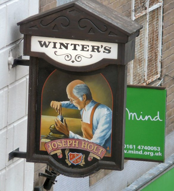 Pub sign for Winter's
