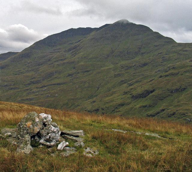 Summit cairn of Cruinn a' Bheinn