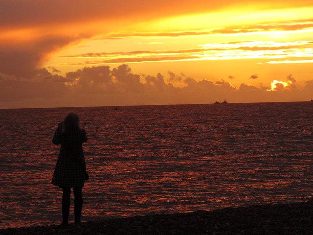 A fellow photographer on the beach