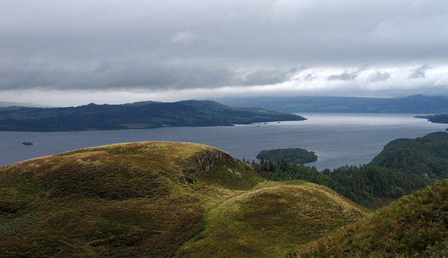 Rise to 187m on Conic Hill