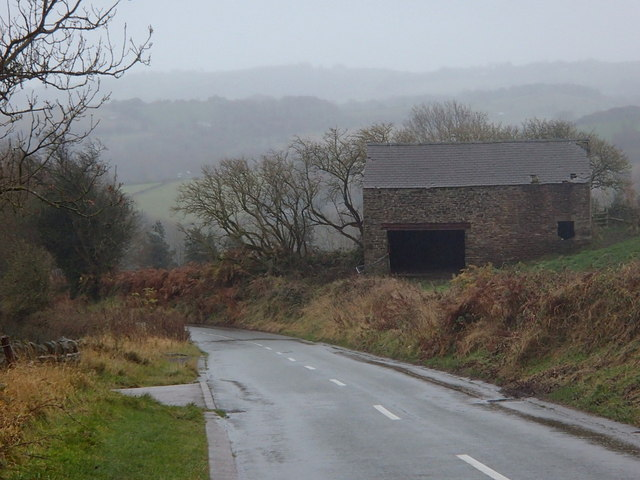 Whitelow lane by a barn