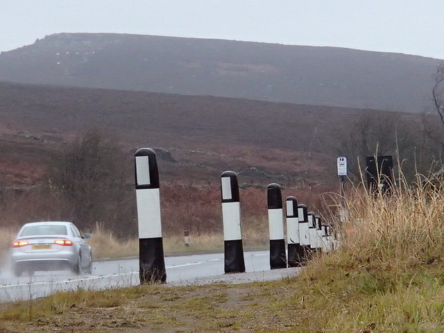 A625 by the moorland
