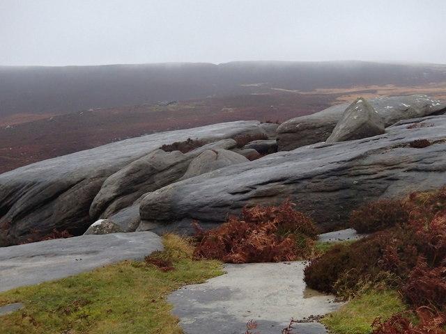 Rocks on Burbage Moor