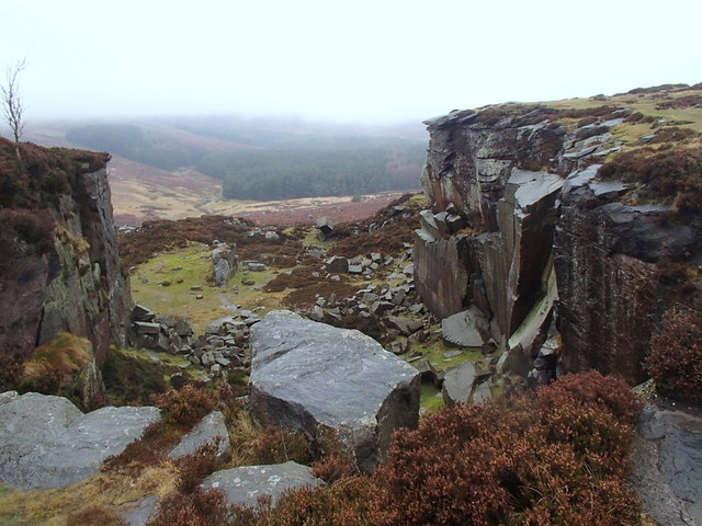 Rock formation on Burbage Moor