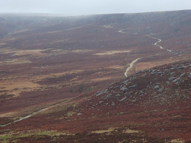 Moorland and footpath