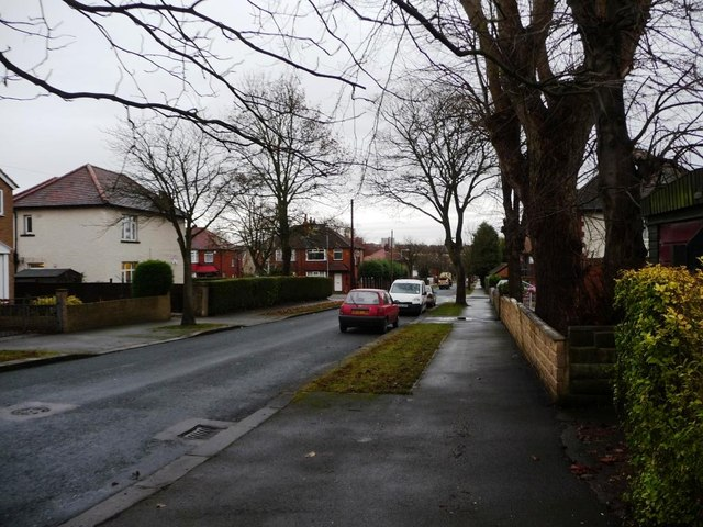 Looking east along Fearnville Drive, Leeds