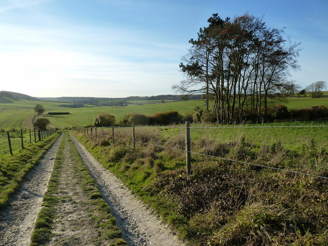 View WSW from the Monarch's Way