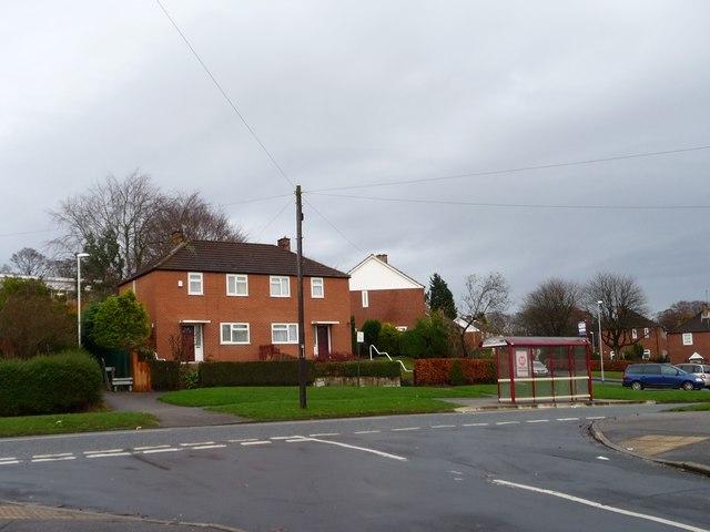 Bus stop on Kentmere Avenue, Leeds