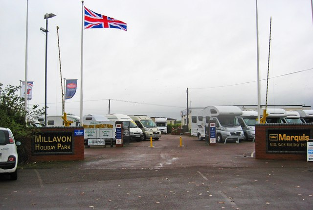 Entrance to Millavon Holiday Park, Gloucester Road, Tewkesbury