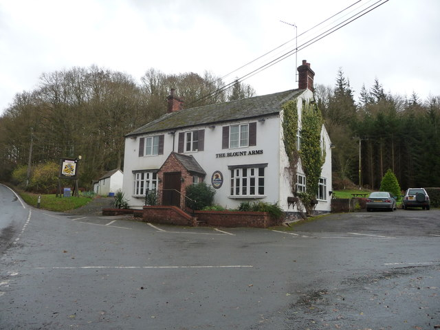 The Blount Arms public house near Cleobury Mortimer