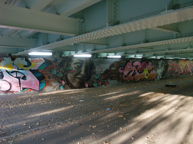Graffiti below Nottingham's ringroad