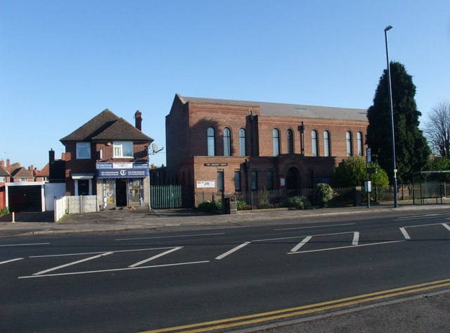 Aspley Methodist Church, and newsagents, Aspley Lane, Nottingham