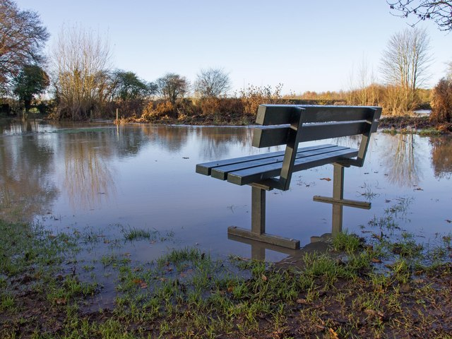Bench by the footpath