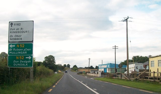 Approaching the Castletown Cross Roads from the south