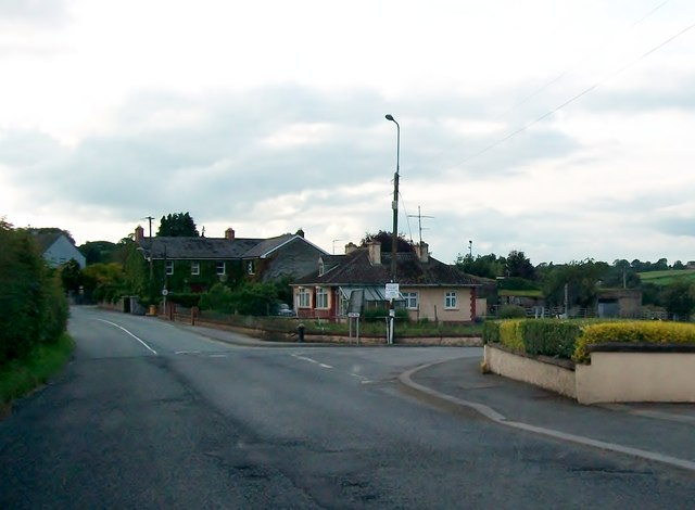 The junction of the R162 and Cregg Road in the village of Nobber, Co. Meath