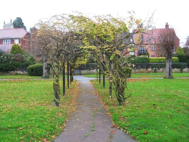 Pergola in Victoria Gardens, Tewkesbury