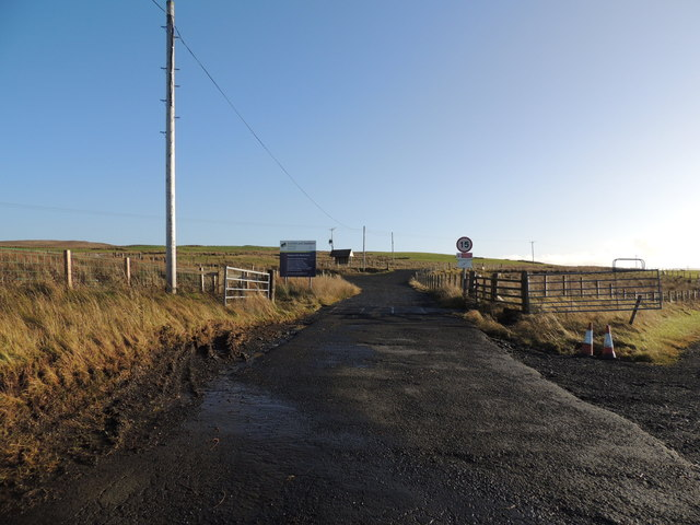 Entrance to Hadyard Hill Windfarm at Penwhapple