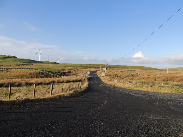 Road from Visitors Car Park at Penwhapple