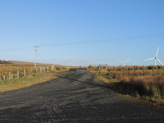 Road into Windfarm at Penwhapple