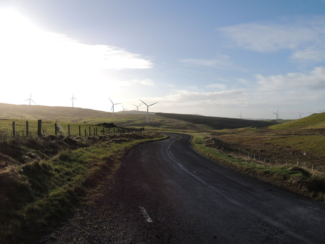 Road to Barr near Penwhapple