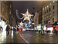 TQ2981 : Christmas lights in Oxford Street by David Smith