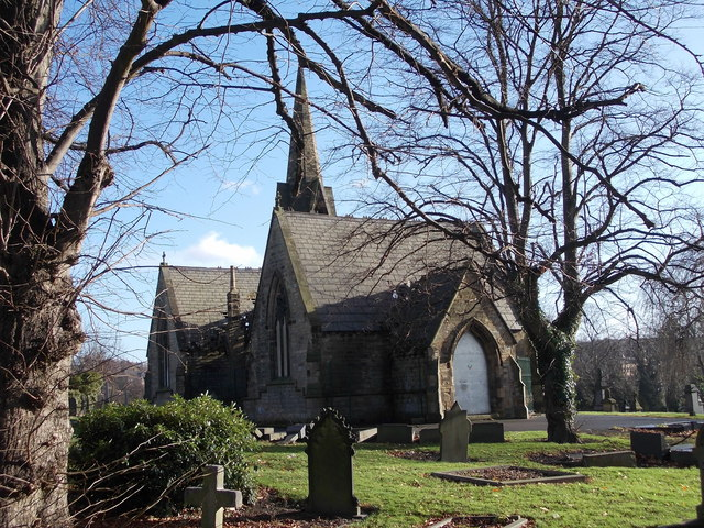 Heckmondwike Cemetery Chapel - viewed from off Brighton Street