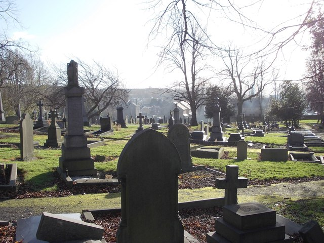 Heckmondwike Cemetery - viewed from off Brighton Street