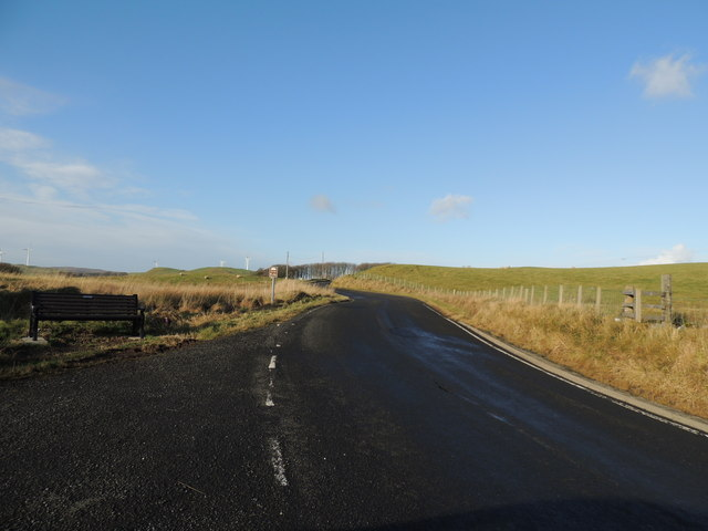 Road to Old Dailly (B734) near Brockloch