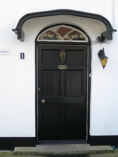 Front door of The Grange, 1 Broadway Road