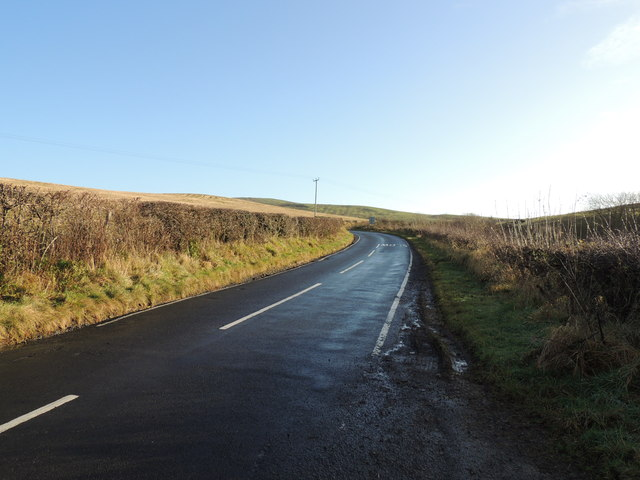 Road to the Barr (B734) near Penkill