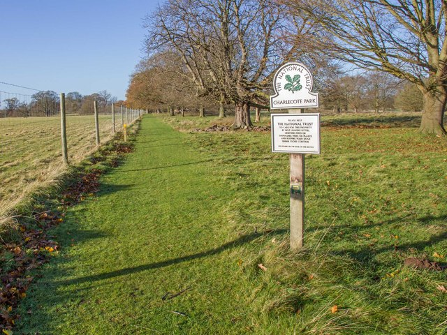 Public footpath through Charlecote Park