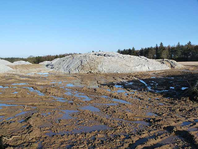 Mound of paper crumble off Miller's Lane