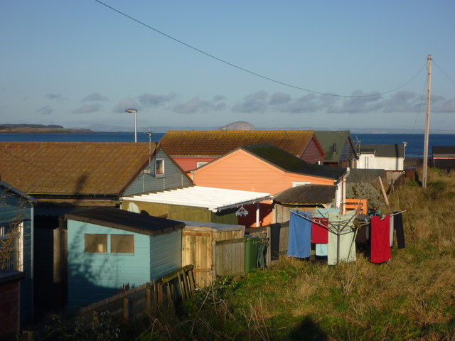 Coastal East Lothian : Roofs, Sheds And Washing At Winterfield Mains