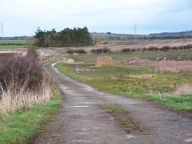Farm road near Wellhouse Farm