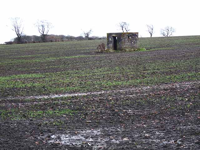 World War 2 pillbox near West Moorhouses Farm