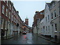 SJ4812 : Shrewsbury: Swan Hill, on a dark rainy morning by Christopher Hilton
