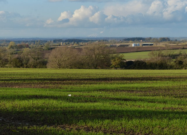 View northwest across Leicestershire