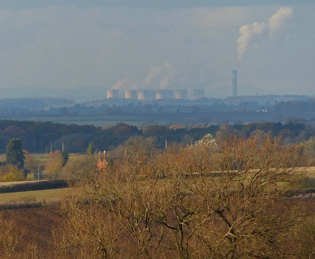View towards Ratcliffe on Soar Power Station