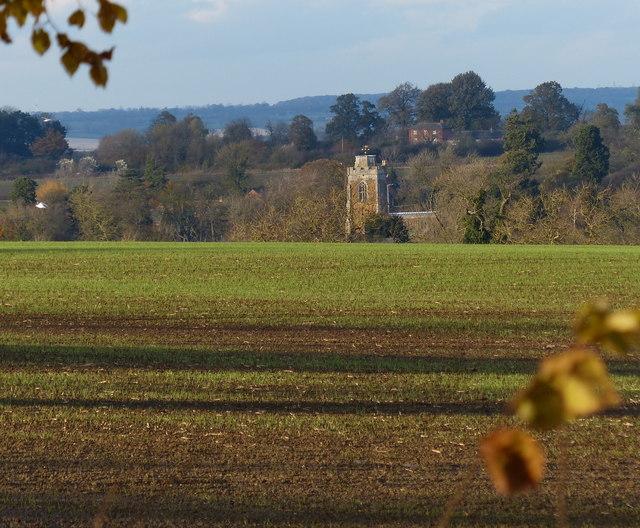 Farmland north of Keyham Lane