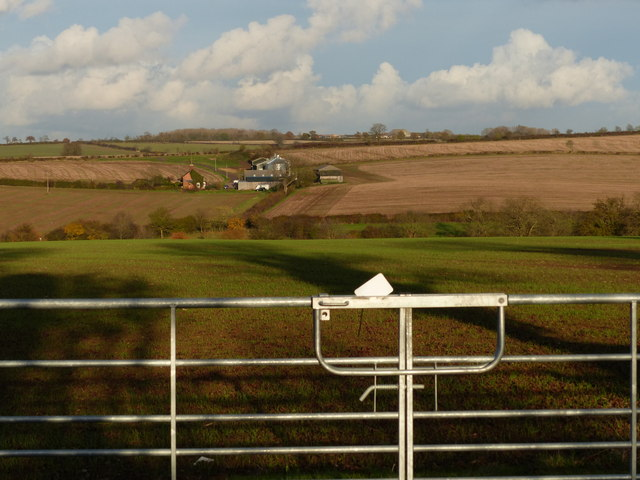 Farmland in the Barkby Brook valley