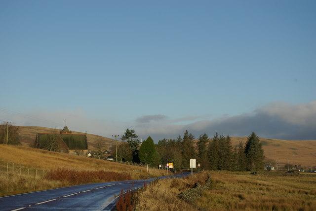 A702 at Elvanfoot