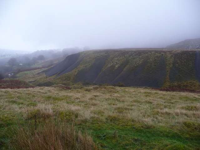 Old tips above Abersychan